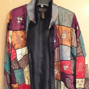 PatchWork MultiColored Boho Fall Jacket PL Alex Xi
